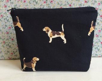 Beagle Print make up bag
