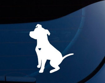 Love A Pit Bull  Decal - FREE US SHIPPING