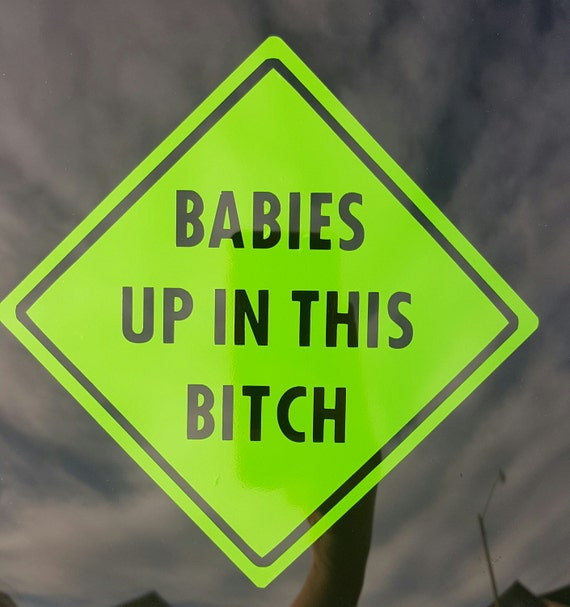 Babies Up In This Bitch Car Decal, Funny Car Decal, Cool Mom Car Decal ...
