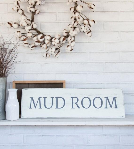 Mud Room Wall Decor : Mud room sign rustic wood wall decor