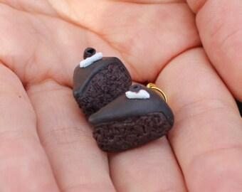 Polymer Clay Chocolate Mudcake Charm