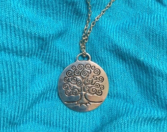 Silver Tree of Life charm necklace