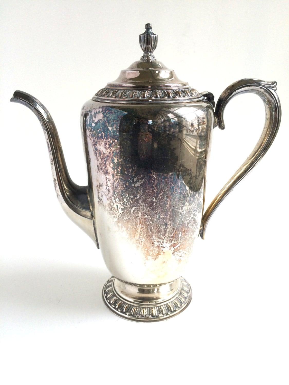Vintage silver coffee pot teapot