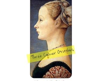 iPhone 6+ printable case design (Portrait of a Young Woman, Antonio Pollaiuolo); DIY print at home iPhone accessories for 6 Plus, 6S Plus