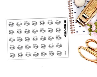 Work Out Planner Stickers || 35 stickers [S1-119]
