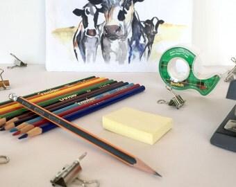Cow Pencil Case, Cosmetics Bag,  Accessories Pouch - regular size