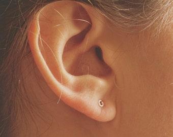 14K Gold 3mm Open Circle Stud Earring Solid Sterling Silver Gold Filled Rose Gold Filled Earrings jewelry minimalist geometric 043