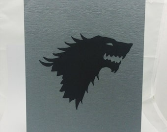 """Stark Game of Thornes Inspired Cut Paper Silhouette Portrait 8"""" x 10"""" Cut Out Art Portraits"""