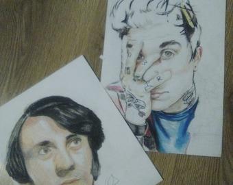 Custom Prismacolor Portraits
