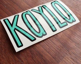 Two Color Name Decal   Any word vinyl decal   Personalized Name Sticker   Yeti Cup Decal   Car Decal   Custom Name Vinyl Decal