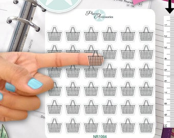 Clear Shopping Stickers Shopping Cart Stickers Planner Stickers Erin Condren Functional Stickers Decorative Stickers NR1064