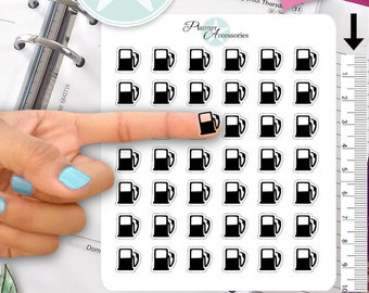 Clear Gas Fuel Stickers Gas Stickers Car Stickers Planner Stickers Erin Condren Functional Stickers Decorative Stickers NR371