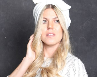 white turban hat, knotted turban, fashion turban, full headband, women turban,  wedding turban, vintage style, retro turban, hair turban