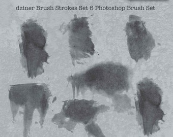 Brush stroke set 6 for digital scrapbooking, art journaling and photo composition