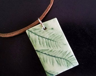 Jacaranda - Polymer Clay Pendant Necklace