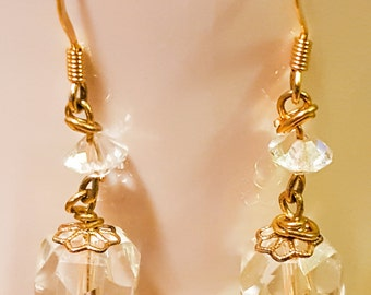 Wedding Earrings Made With Vintage Crystal