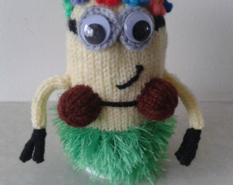 Minion Egg Cosy - Hawaiian Minion