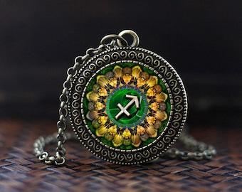 Sagittarius Zodiac Necklace, Sagittarius Pendant, Sagittarius Zodiac Jewelry, Sagittarius Zodiac Sign, Astrology Necklace