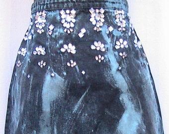 DENIM SKIRT Banana Moon Reworked Vintage Short   Size 6