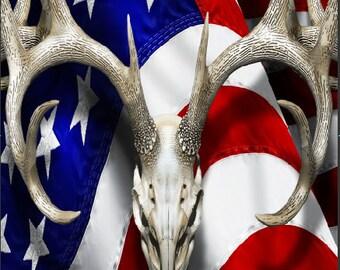 American Deer Oblit Buck Camo Cornhole Wrap Bag Toss Decal Baggo Skin Sticker Wraps