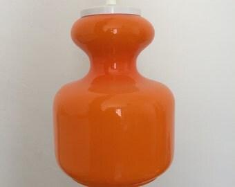 Opaline ceiling lights Chandelier orange Tangerine color - Vintage