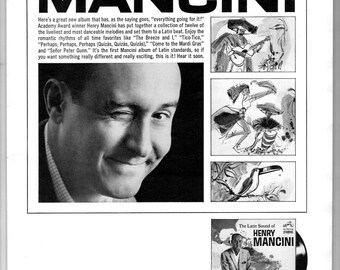 1965 Henry Mancini RCA Victor vintage magazine ad