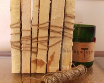 Mid-sized books, Unbound Book, Photo Prop, Bare Book Wrapped in Twine, Instant Library, Novels, Pick your favorite, Urban Texture