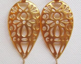 18k vermeil-cutout earrings-dangle amethyst earrings
