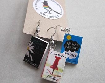 "John Green Book Earrings from ""The Earring Library"""