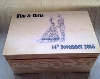 Brides box, grooms box, wedding gift, personalised wedding gift, wedding keepsake box, custom wedding gift, wedding memory box, mr & mrs,