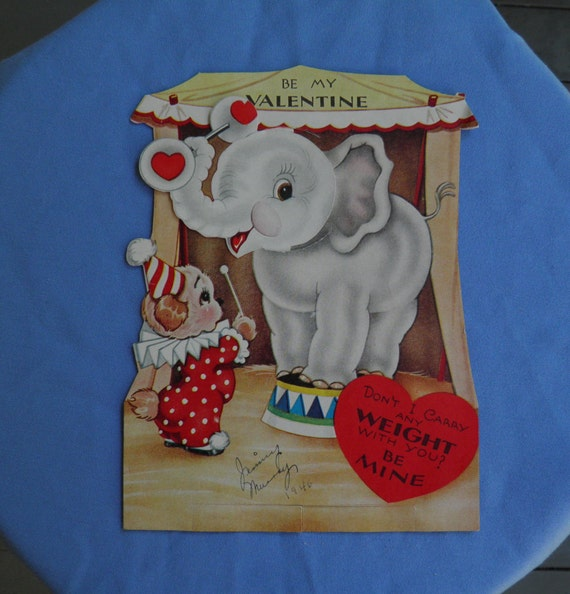 Valentines Day Vintage Circus Carnival Clown Cards Page Two – Nephew Valentine Cards