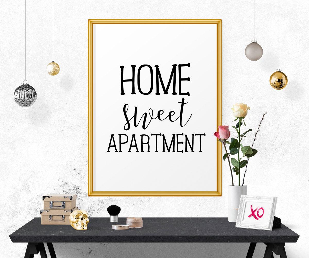 Home Sweet Apartment Apartment Decor Home Decor Art Print