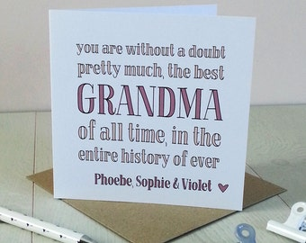 Best Grandma Ever, Card