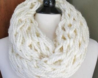 Cream Arm Knit Scarf