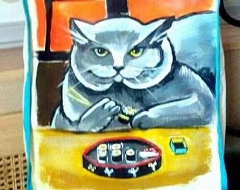 Sushi Cat #ArtBag©