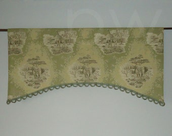 Waverly Scenic Safari Toile Linen Valance