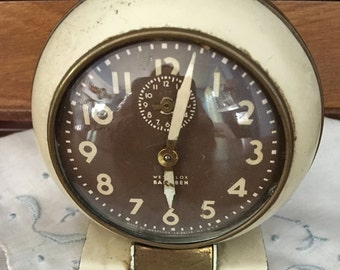 Working Vintage Westclox Baby Ben, Style 5,  Ivory and Brass