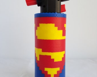 Superman Perler Torch Cover