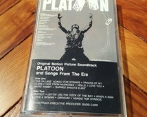 Vintage Cassette Tape 1980s Platoon Soundtrack 1960s Music Vietnam War The Doors Jefferson Airplane Aretha Franklin Otis Redding
