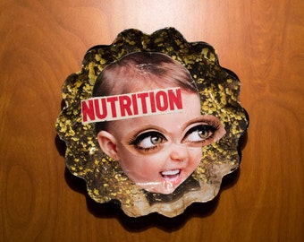 NUTRITION baby collage ashtray