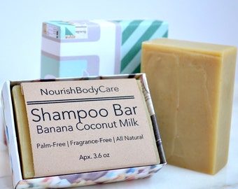 Natural Shampoo, Natural Hair Care, Unscented Shampoo, Unscented Soap, Solid Shampoo, No Palm Soap, Palm Free Soap, Soap Bars, Homemade Soap