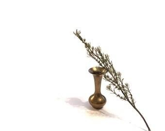 Small Vintage Brass Vase