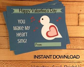 Heart Bird Valentine Card
