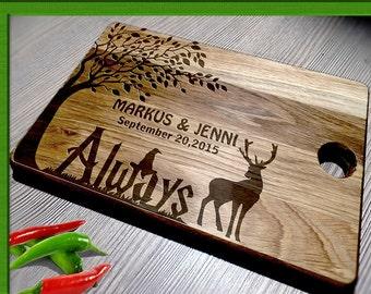 Wedding Gift Cutting Board / harry potter wedding gift / Bride  Groom / Personalized Cutting Board / Personalized Harry Potter cutting board