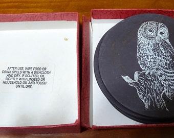 Printed Nature Animals on Polished Welsh Slate