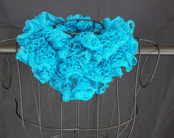 Crochet Ruffle Scarf - JB82