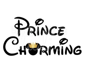 Prince Charming with Mickey Mouse Hubby Son Royal Matching Family Disney Vacation Dad Family Father Iron   Disney On Vinyl Decal Shirt 321