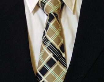 Plaid Necktie, plaid Tie, Grey Necktie, Grey Tie, Navy Necktie, Navy Tie, Aqua Necktie, Aqua Tie, White, Father, Day, Dad Gift, Wedding, Man