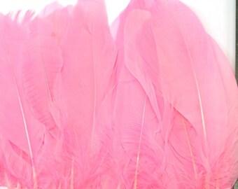 1  x Metre Natural Goose Feather Trim - Baby Pink