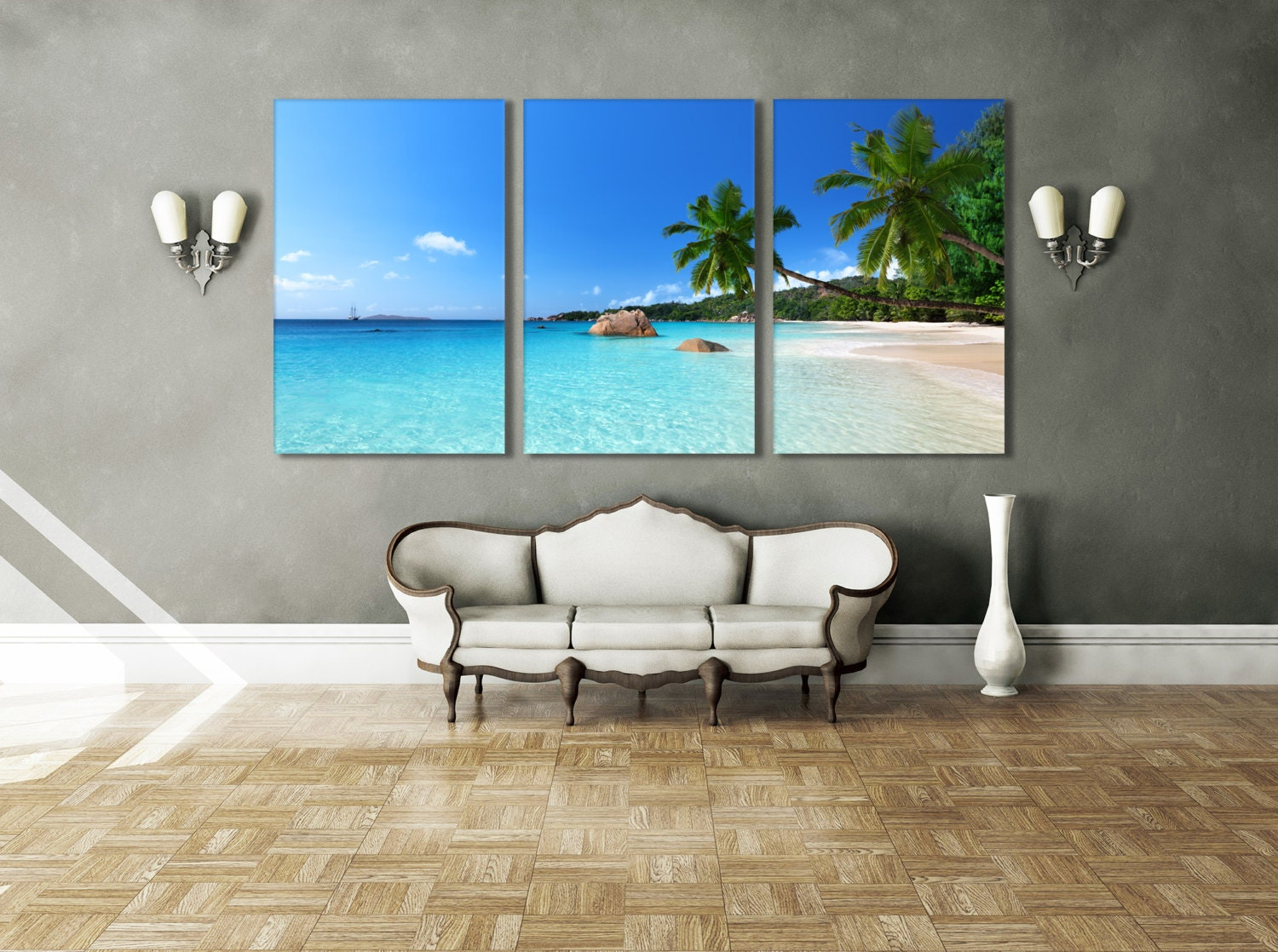 Beach Ocean Wall Decor : Tropical decor beach wall art ocean nature by